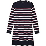 Tommy Hilfiger Women's Adaptive Stripe Dress with Magnetic Closures at Shoulders