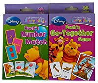 Set of 2 Winnie the Pooh Card Decks, Number Match and Go-together Game by Disney