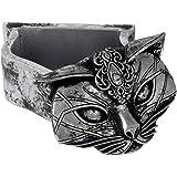 Alchemy Sacred Cat Trinket Box Silver Coloured 10.5 x 6 x 7cm
