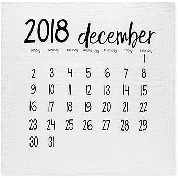cbdf3b10e3a1e モダンバーラップ Modern Burlap おくるみ 1枚 オーガニック コットン モスリン スワドル ブランケット カレンダー DECEMBER  2018