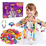 Snap Pop Beads Girl Toy - Earsoon 180 Pieces DIY Jewelry Kit Fashion Fun for Necklace Ring Bracelet Art Crafts Toys for Kids Girls