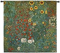 "Klimt Farm Garden with Sunflowers 53"" W壁タペストリー"