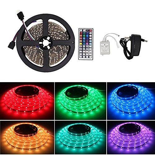 Vemico LEDテープライト 防水 RGB LEDテープ...