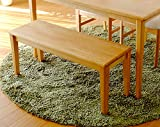 ISSEIKI ダイニングベンチ 無垢 100 ナチュラル 木製 ERIS DINING BENCH
