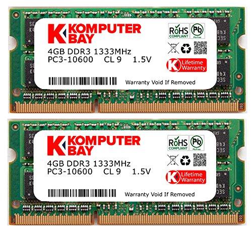 Komputerbay ノートPC用メモリ SO-DIMM-DDR3 永久保証 ECOパッケージ (1333Mhz PC3-10600 1.5...