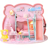 TOYANDONA Dollhouse Miniature with Furniture DIY Wooden Dollhouse Kit DIY Craft House Cottage Building Model Toy Wooden Educa