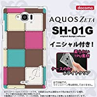 SH01G スマホケース AQUOS ZETA カバー アクオスゼータ ソフトケース イニシャル パッチワーク風 ミックスE nk-sh01g-tp1675ini P