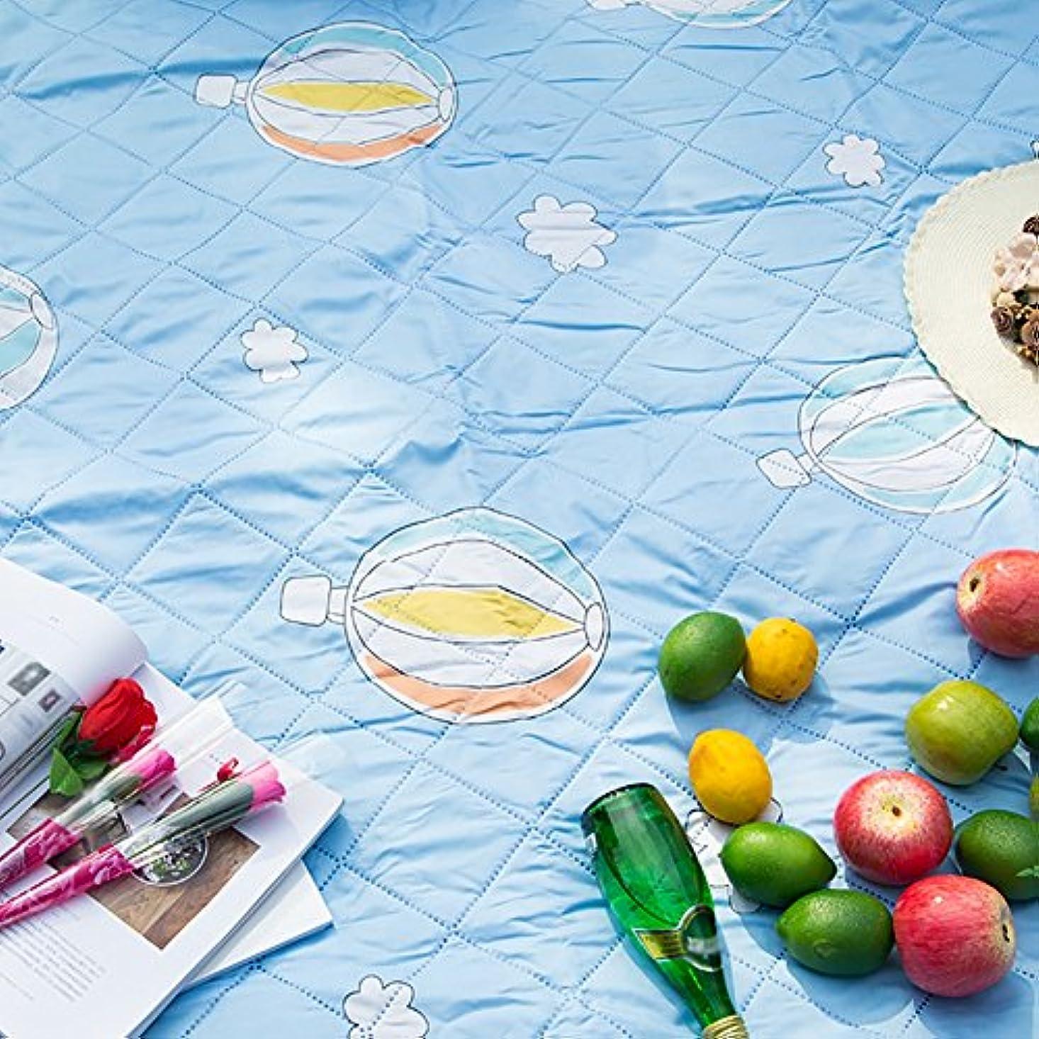 申込み本土省略する屋外ポータブルスプリングアウトマットThicken Moistureproof Matピクニックマット芝生キャンピングピクニック布