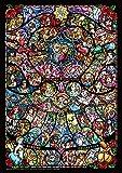 1000ピース ジグソーパズル ディズニー&ディズニー/ピクサー ヒロインコレクション ステンドグラス 世界最小1000ピース (29.7x42cm)