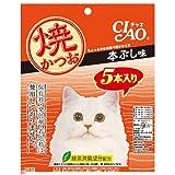 箱売り いなば CIAO(チャオ) 焼かつお 本ぶし味 5本入り×16袋 猫 おやつ