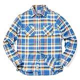 HOUSTON ヒューストン 40259 チェック ビエラ ワークシャツ(M 02:BLUE)