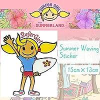 SURFeR GiRL Summer Waving Sticker サマーウェービング ステッカー シール サーフィン BALI