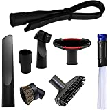 Wonlives 1.25 inch Flexible Crevice Tool Vacuum Dusty Brush Vacuum Attachments Accessories for 32mm and 35mm Standard Hose Se