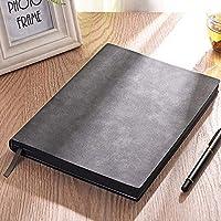 B5大型ソフトレザービジネスシンプルなノートブック肥厚クリエイティブミーティングレコードブック事務作業ノート Miyabitors (Color : A)