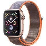 METEQI バンド 対応 Apple Watch,しいナイロン スポーツループバンド ストラップ 交換バンド for Apple Watch Series 6/5/4/3/2/1/SE (38mm/40mm, ビタミンC)