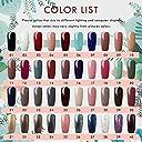 Twinkle Store カラージェル 40色套装 8 ml ジェルネイルカラー UV/LED 适用 ネイルアートジェルで簡単に DIY (40色)