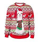 レディース トレーナー レディース長袖ラウンドネッククリスマストレーナーセーターカジュアルパーティーウエディングコスチューム,1,XL