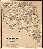 マップ: 1881のNacogdoches郡。著作権1881、w.c. Walsh Commissioner一般Land Officeの状態texas|cadastral landowners|nacogdoches county|nacogdoches county|real property|texas|