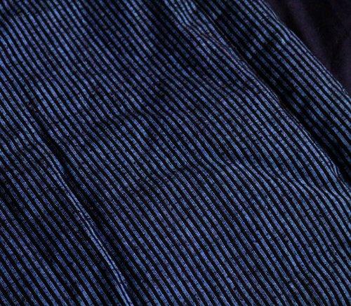 3Lビックはんてん 久留米手づくり/半天/半纏/日本製/宮田織物952-D小縞/掻巻/褞袍(どてら)/長着/袢纏/はんてん/長丹前