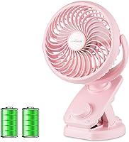 【2019年最新 KEYNICE USB扇風機 首振り 充電クリップ式 卓上 静音 ミニ扇風機 usbファン 無段階風量調節 48時間連続使用 パワフル usb充電式 三色