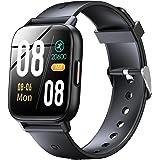 スマートウォッチ Bluetooth5.2 腕時計 1.69インチ大画面 2色ベルト付き ストップウォッチ 歩数計 目覚まし時計 スポーツウォッチ IP67防水 smart watch SMS/Twitter/Line/の通知 長持ちバッテリー 誕生