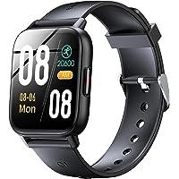 スマートウォッチ Bluetooth5.2 腕時計 1.69インチ大画面 2色ベルト付き ストップウォッチ 歩数計 目覚…
