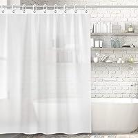 Kitdine シャワーカーテン 半透明 防水 防カビ バスカーテン お風呂用カーテン ユニットバス 浴室 間仕切り リ…