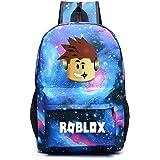 Kids Roblox Backpack Student Bookbag Laptop Bag Travel Computer Bag for Boys Girls Teens Game Fans Gifts