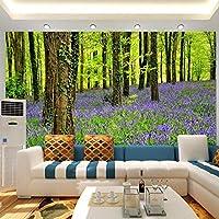 Gyqsouga カスタム3D写真の壁紙森林植物と花の壁壁画ウォールペーパー家の装飾リビングルーム寝室ソファ背景壁紙-280X200CM
