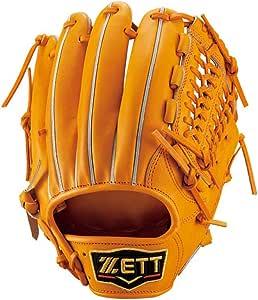 ZETT(ゼット) 【型付け 加工済】 野球 硬式 セカンド・ショート グラブ(グローブ) プロステイタス (右投げ用) BPROG16A オレンジ