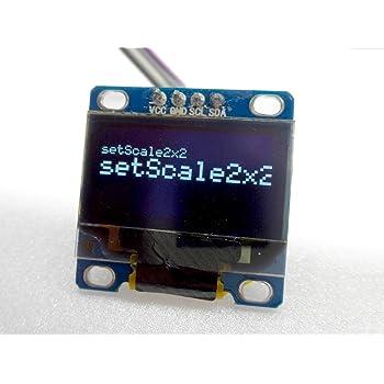 [GPG] 小型I2C 128x64 OLED ディスプレイ Arduino等の電子工作用 (ホワイト)