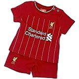 リバプール フットボールクラブ Liverpool FC オフィシャル商品 赤ちゃん・ベビー用 半袖Tシャツ・短パン 上下セット (9-12ヶ月) (レッド)