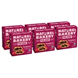 Nature's Bakery Whole Wheat Fig Bars, Raspberry, Real Fruit, Vegan, Non-GMO, Snack bar, 6 boxes with 6 twin packs (36 twin pa
