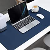 Mouse Pad Extended PU Leather, Tobeape Large Desk Mat,80x40cm Blotter Dual Sided Non Slip Water Resistant for Keyboard and Mo