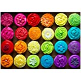 fishwisdom 1000 Pieces Jigsaw Puzzles for Adults and Teens and Kids Family Happy Time Gift Idea Cupcakes No.2