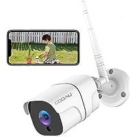 COOAU 防犯カメラ 屋外1080P 200万画素 WIFI/ワイヤレス ネットワークカメラIPカメラ 動体検知 警報…