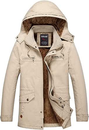 Thirteen one メンズ 綿 厚手 裏起毛 防寒コート防風ウィンドブレーカー綿長袖 コート ジャケットコート ジャケット 冬服