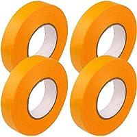 塗装用 マスキングテープ 幅18mm×長さ20m 4巻セット 車用 手芸用 仮止めテープ 養生テープ プラモデル塗装 建…