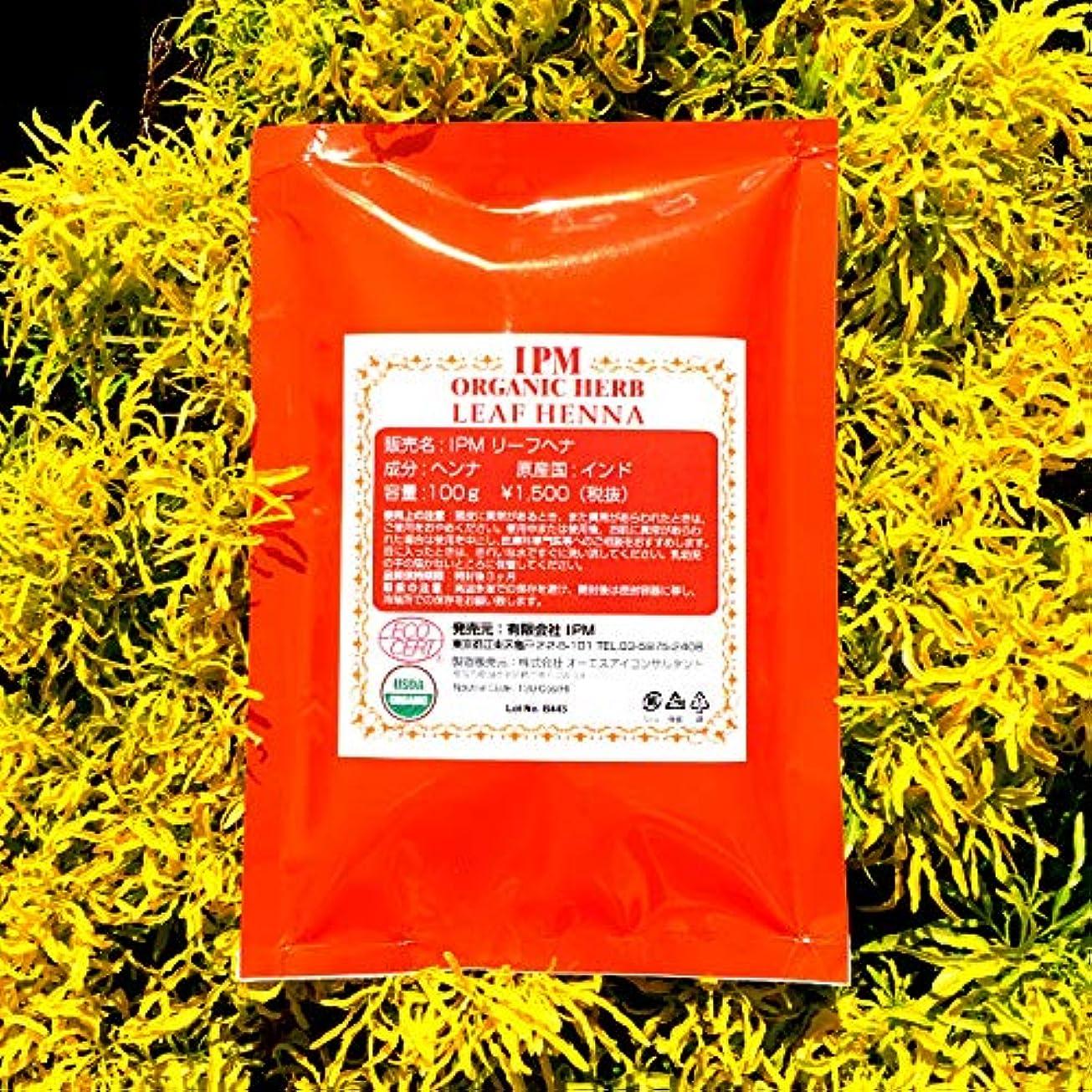満足手のひら加速するIPMヘナ 大袋(100g×5個) オーガニックヘナ (リーフレットつき、ポストイン)