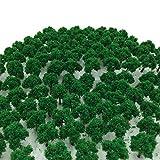 森林 選べる 色 数量 50本 100本 【DauStage】 Nゲージ ジオラマ 鉄道 建築 模型 用 樹木 風景 3㎝ (13,緑 100本)