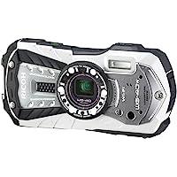 RICOH WG-40W Waterproof Digital Camera White Waterproof 14m Shock Resistant 1.6m Cold…