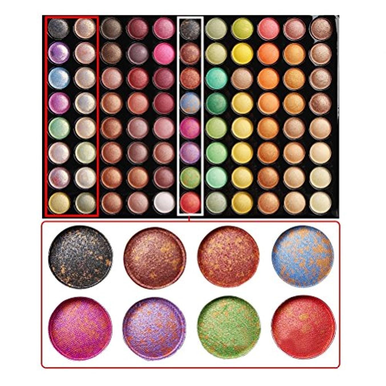 チェリー印象的うまくやる()(メイクアップエーシーシー) MakeupAccアイシャドウパレット アイシャドウ メイクパレット プロ仕様 88色セット アイシャド—ブラシ ミラー付き コンパクト アイメイク コスメ (虹色系) [並行輸入品]
