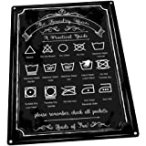 Laundry Guide Metal Sign Home Decor Modern Decor Laundry Room Decoration
