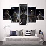 Anime Poster HD Print Wallpaper Living Room Decor Attack on Titan Oil Painting Canvas Artwork Sticker Christmas Decoration Mu