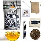 1 Gallon Jun Kombucha Starter Kit - Includes USDA Organic Jun SCOBY & Starter Tea + Ingredients To Start Brewing Your Own Jun