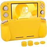 Silicone Protective Case for Nintendo Switch Lite, Soft Grip Case Cover with Comfort Ergonomic Handles for Nintendo Switch Li