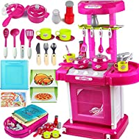 XQ 子供のおもちゃの女の子料理のおもちゃの台所のおもちゃセット食器照明の効果 ( 色 : 2 )