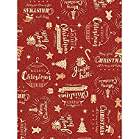 タカ印 クリスマス包装紙 コルテスレッド 半才判 49-3065