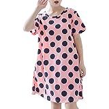 Broioca Night Shirt Women's Soft Short Sleeve Sleep Shirts Cute Nightgown Print Nightwear M-5XL