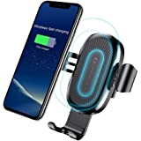 Qi Wireless Car Charger,Baseus Qi Fast Wireless Charger Gravity Car Mount Air Vent Phone Holder for Samsung Galaxy S8 S9 Plus